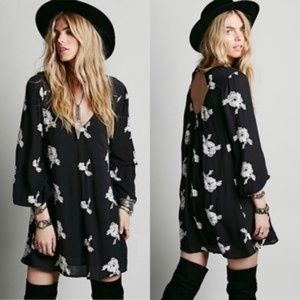 FREE PEOPLE Emma Austin Embroidered Mini Dress